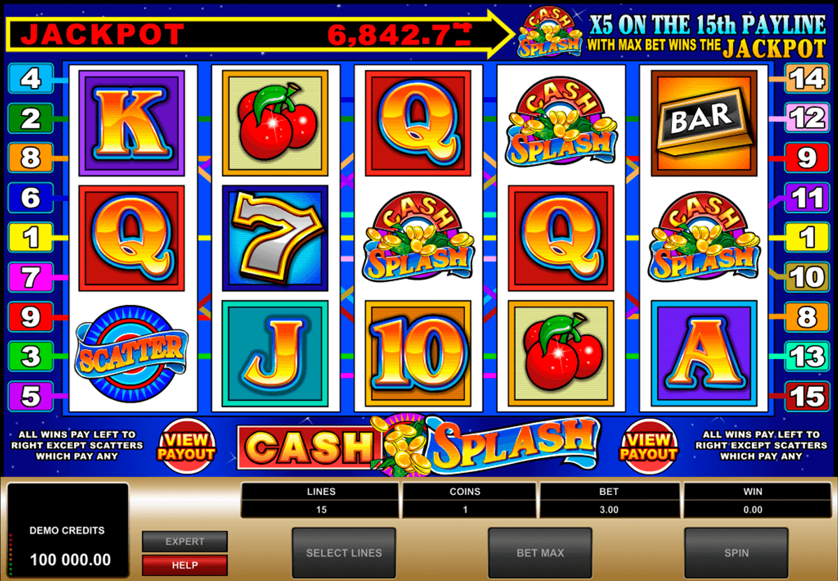 cashsplash video slot microgaming