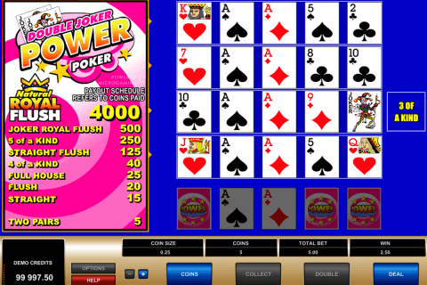 double joker  play power poker microgaming