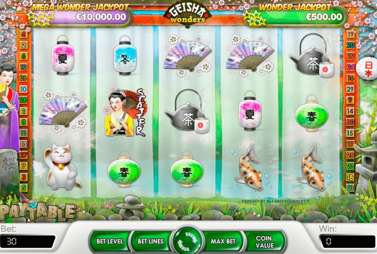 geisha wonders netent