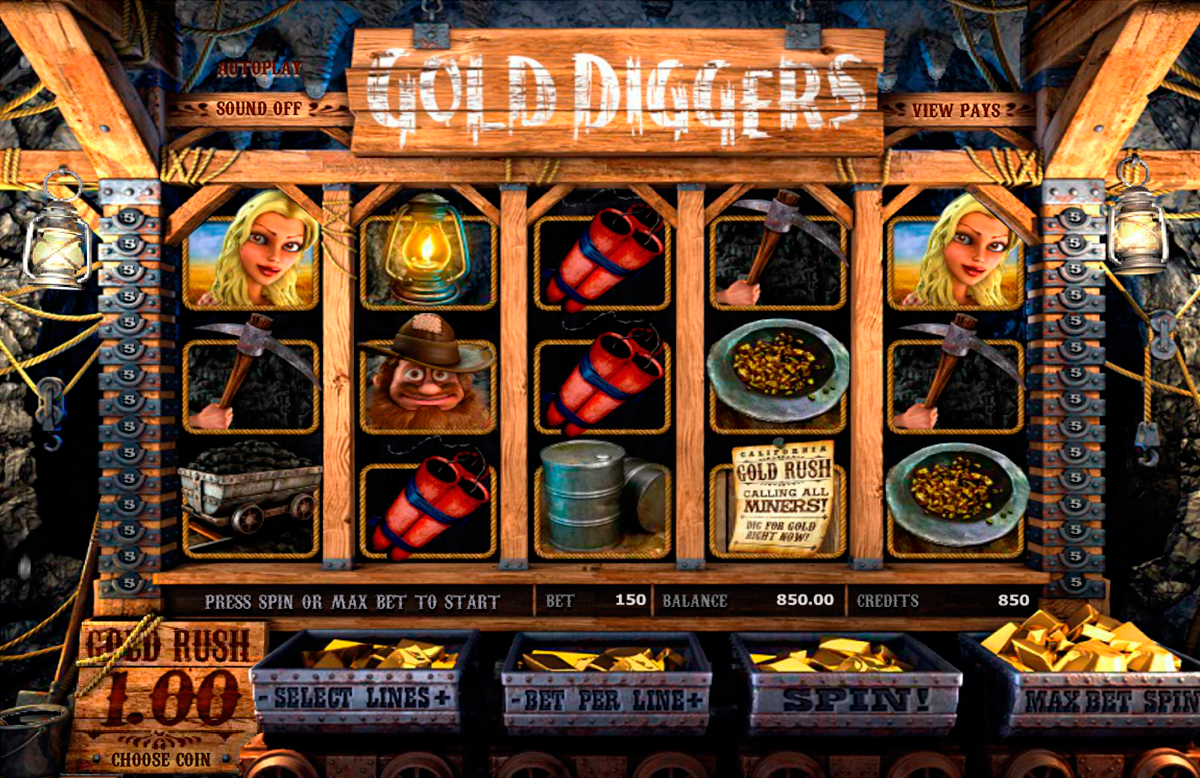 gold diggers betsoft