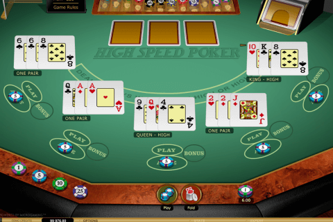 high speed poker microgaming