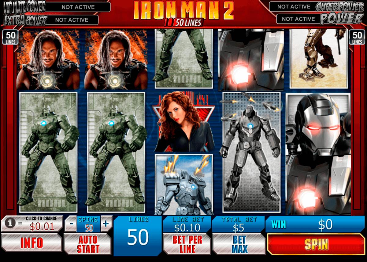 iron man 2 50 lines playtech