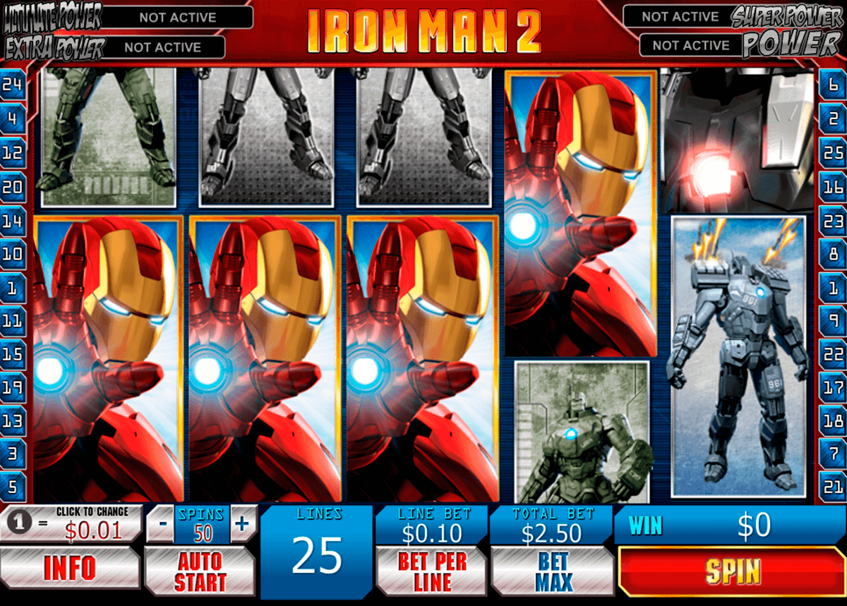 iron man 2 playtech