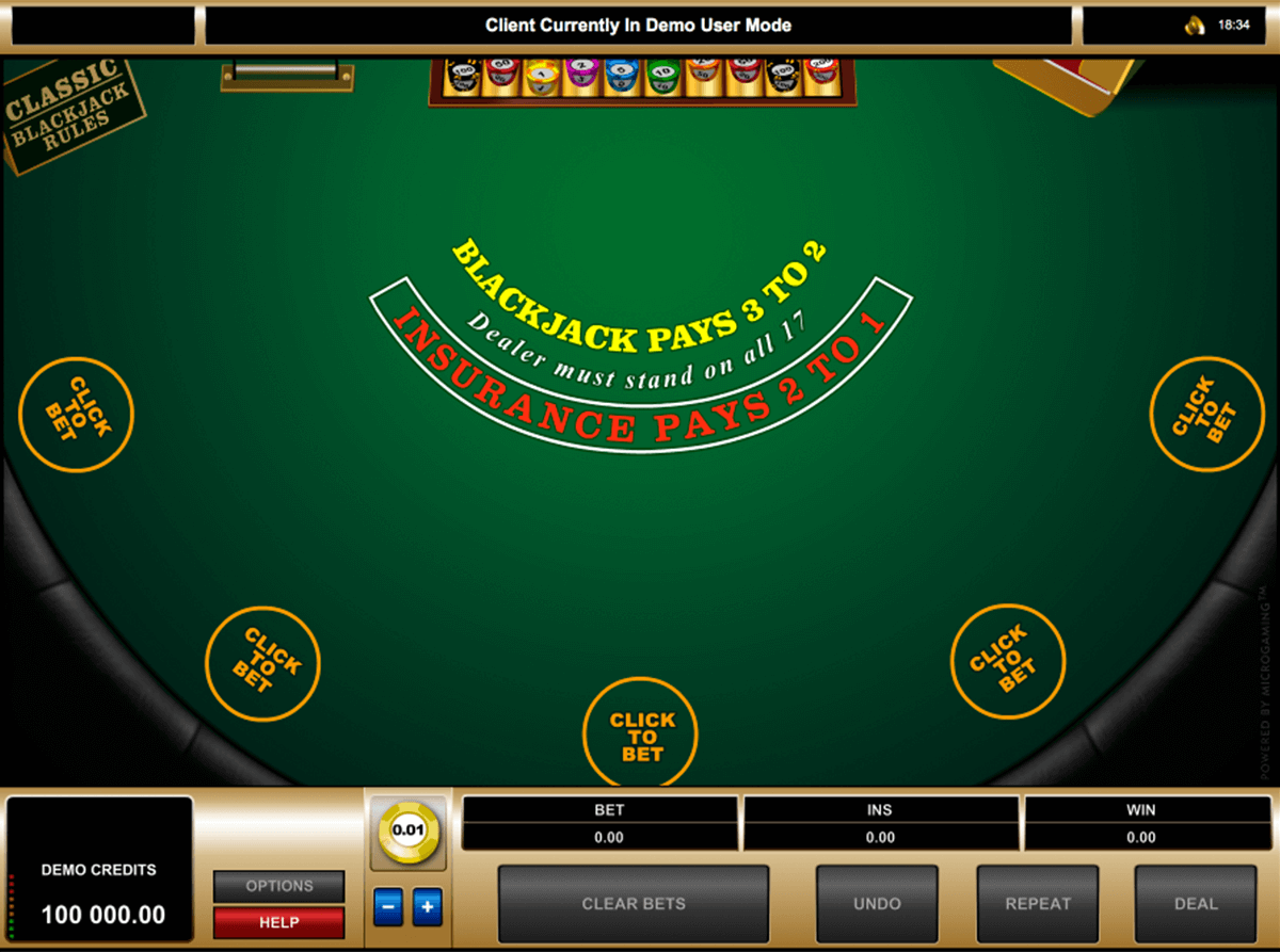 multihand blackjack microgaming