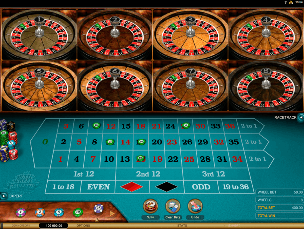 multiwheel european roulette gold series microgaming