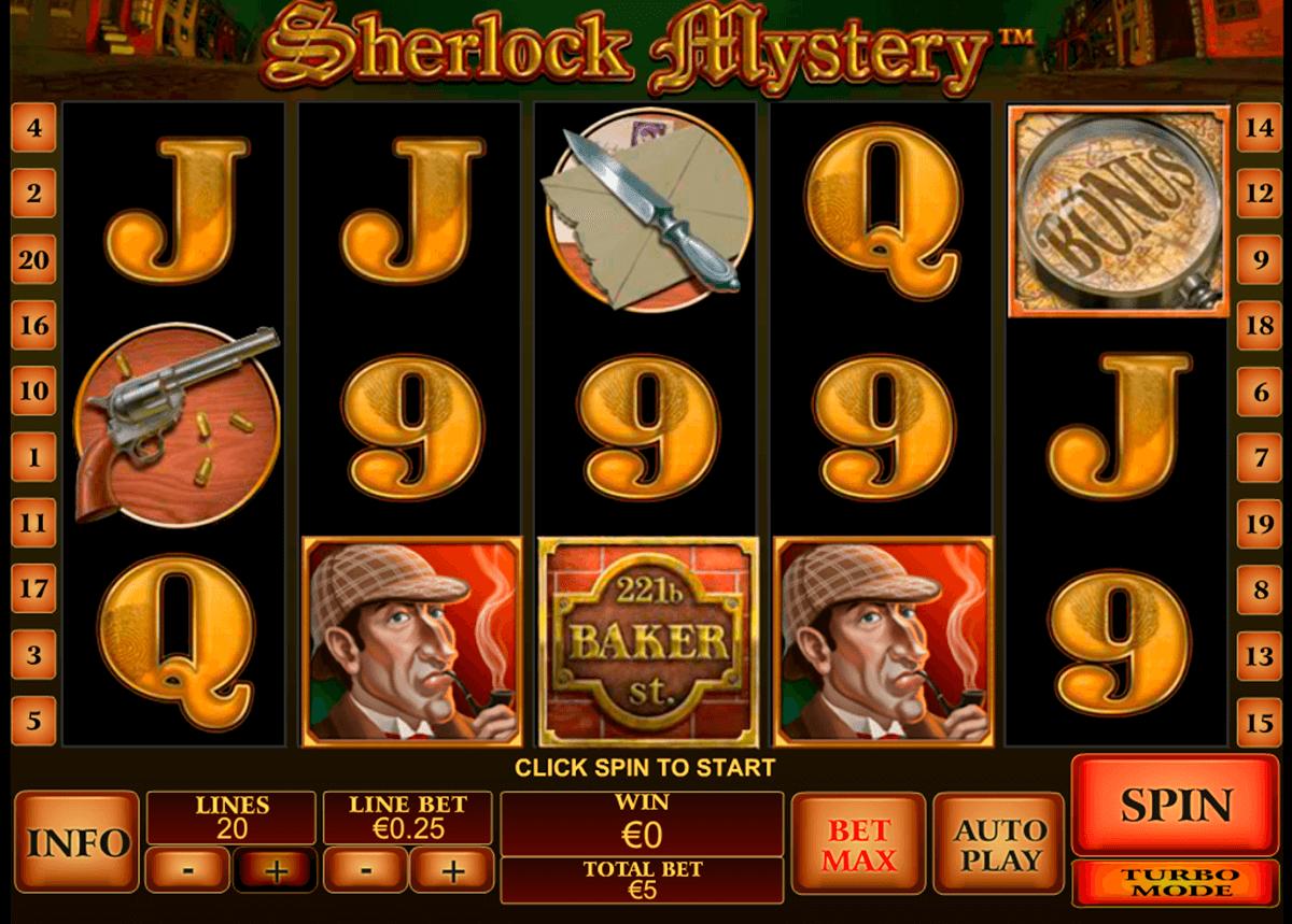 sherlock mystery playtech