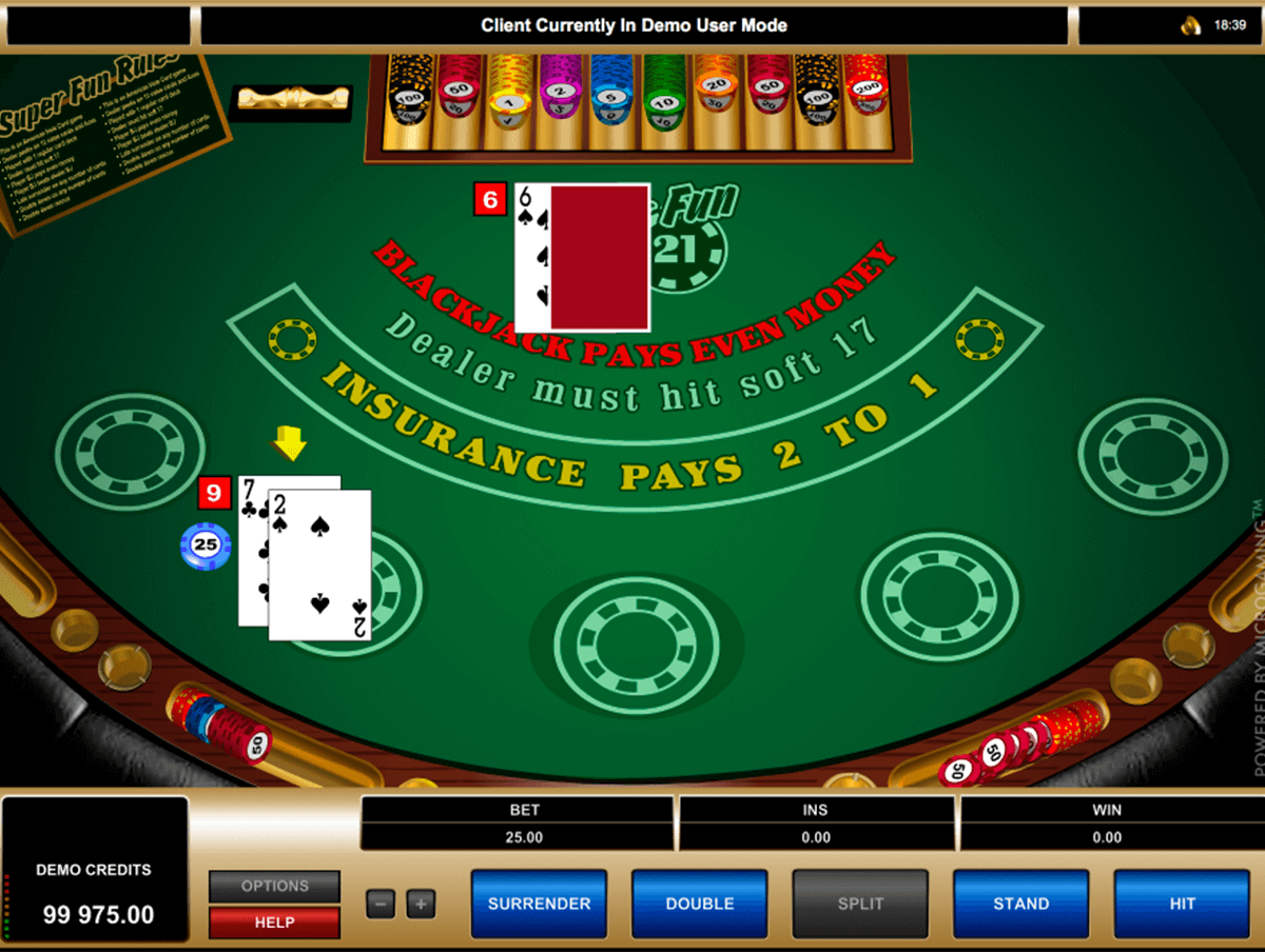 super fun  blackjack microgaming
